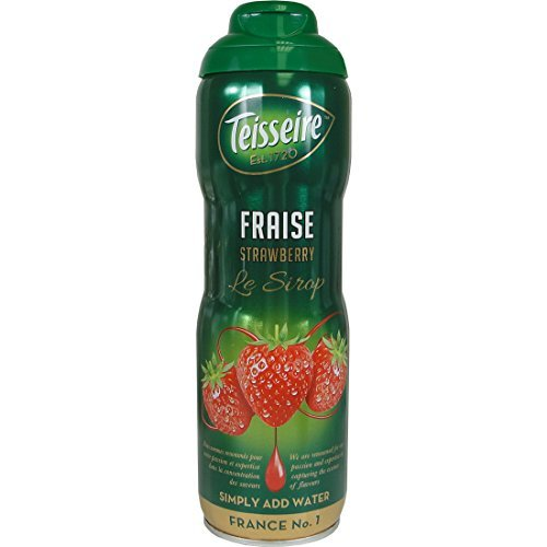 Teisseire French Syrup Strawberry Drink concentrate 600ml (20.3 fl oz), 3Pack