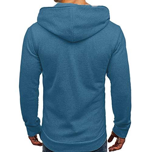[해외]SFE Men\u2018s Soft Solid Slim-Fit Pocket Oblique Full-Zip Sweatshirt Hoodies Autumn Winter Warm Coat Tracksuits / SFE Men`s Soft Solid Slim-Fit Pocket Oblique Full-Zip Sweatshirt Hoodies Autumn Winter Warm Coat Tracksuits Blue