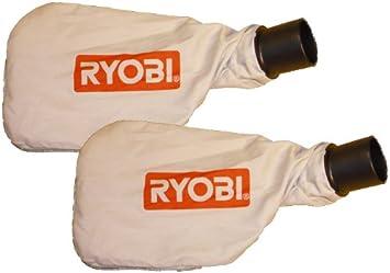 Ryobi RLS1351 5 In. Flooring Saw Replacement Dust Bag (2 Pack) #  089230100117