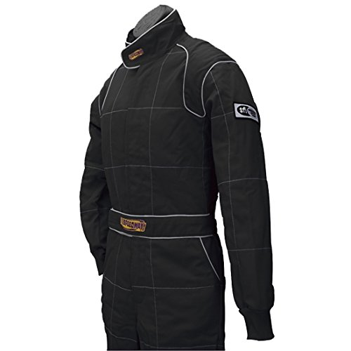 Black 2 Layer Racing Suit-One Piece-SFI-5 Rated, XXL by Speedway Motors (Image #3)