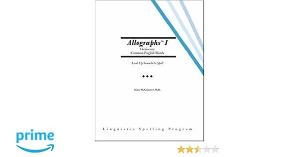 Amazon.com: Allographs™ I Dictionary Common English Words ...