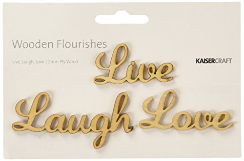 Wood Flourishes Words-Live, Laugh, Love by Kaisercraft