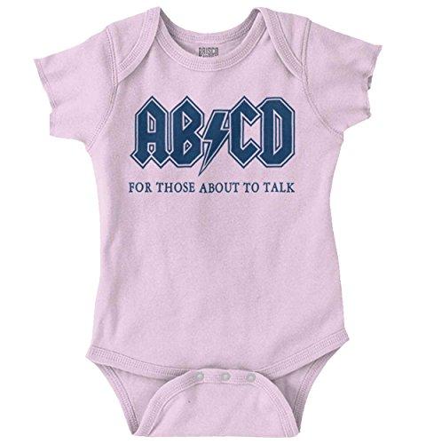 Baby Alphabet Clothes (Brisco Brands ABCD Alphabet Cute Funny Newborn Rocker Romper Bodysuit Pink)