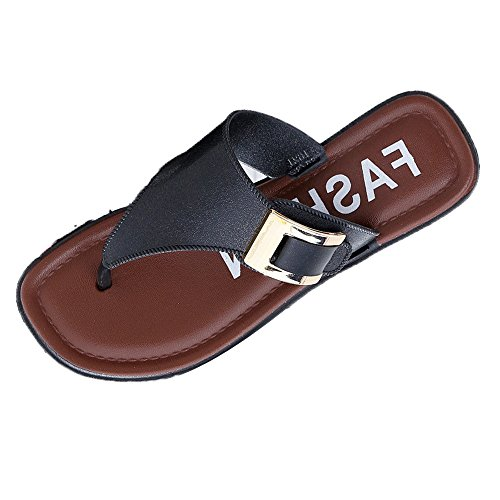 Respctful✿Men's Flip Flops Arch Support Sandals Comfortable Leather Thongs Non-Slip Slippers Light Weight Beach Slides -