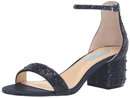 Blue by Betsey Johnson Women's SB-MARI Heeled Sandal, Navy, 6 M US from Blue by Betsey Johnson