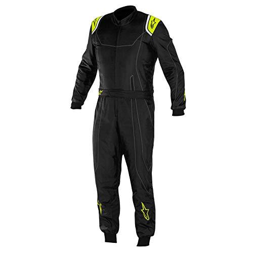 Alpinestars 3356017-1155-52 K-MX 9 Suit, Black/Yellow Fluorescent, Size 52, CIK FIA Level 2, 3-Layer