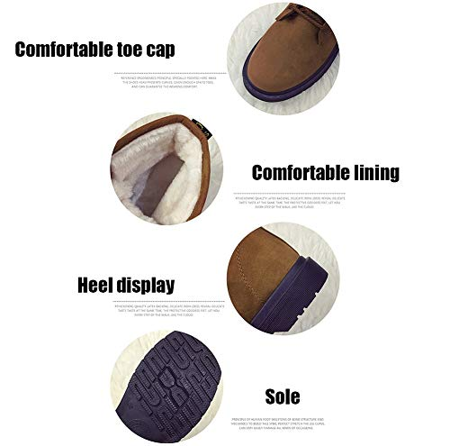 Invierno Gruesa Corto Suela Planos Para Con Zapatos Gray Tubo Ocasionales De Antideslizantes Cálidos Botas Mujer Nieve Ox6nHwqP