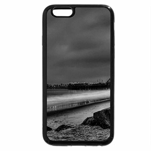 iPhone 6S Plus Case, iPhone 6 Plus Case (Black & White) - Seaside Reflections.