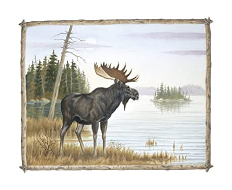 Amazon.com: 2 Country Art Prints Bear and Moose Picture Home Decor ...