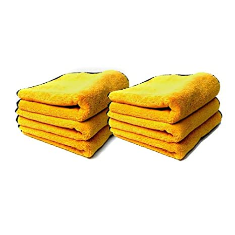 Chemical Guys MIC_506_03 - Professional Grade Premium Microfiber Towels, Gold 16' x 16' (Pack of 3) Gold 16 x 16 (Pack of 3)