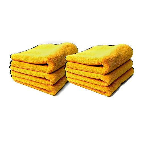 Chemical Guys MIC_506_12 Professional Grade Premium Microfiber Towels, Gold (16 in. x 16 in.) (Pack of ()