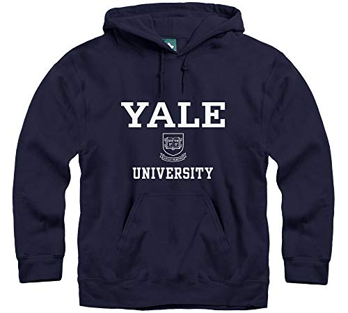 - Ivysport Yale University Hooded Sweatshirt, Crest, Navy, Large