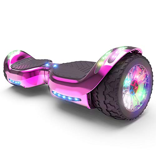 HOVERSTAR Hoverboard All-Terrain LED Flash Wheel with Bluetooth Speaker LED