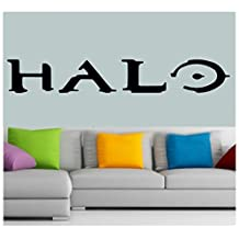 "Halo Xbox 360 Console Decal Sticker Vinyl Window Wall video Game Laptop Sticker (11""inch (Black))"
