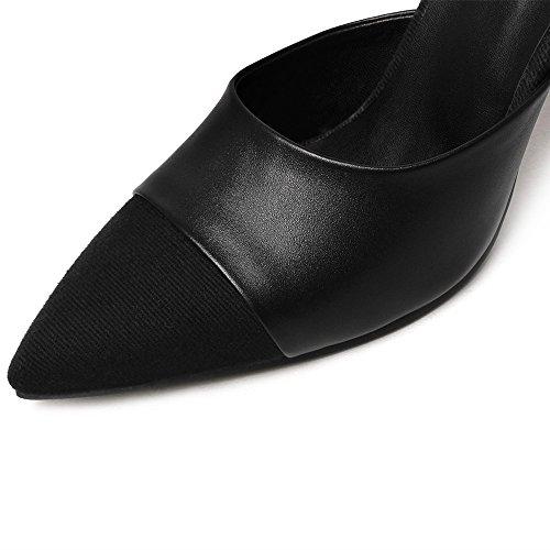 Nine Seven Cuero Puntiagudos Tacones de Especial Aguja de Vestir para Mujer negro