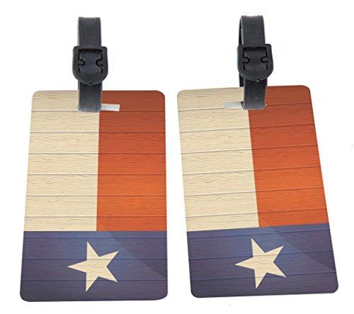 Rikki Knight Texas Flag on Distressed Wood Design Premium Quality Plastic Flexi...