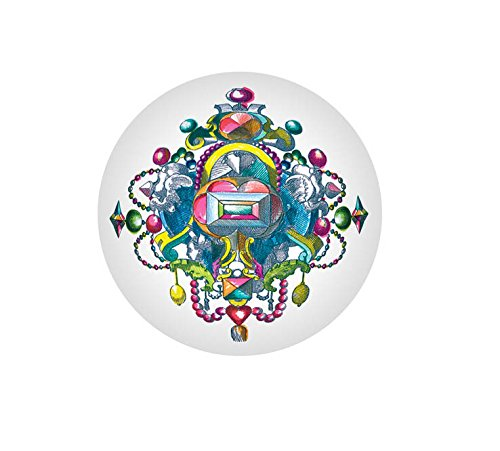 Christian Lacroix Paperweight, Bijoux (01171) Round Faceted Glass Jewels