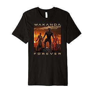 Marvel Black Panther Movie Wakanda Forever Premium T-Shirt