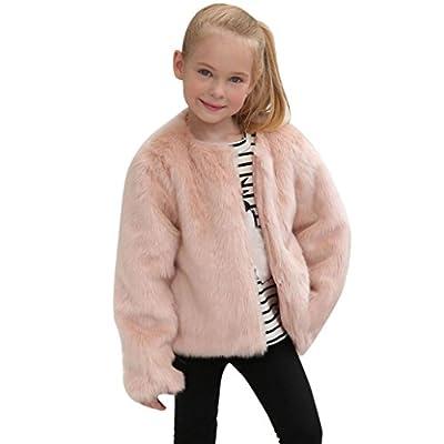 Sunfei Kids Baby Girls Autumn Winter Faux Fur Coat Jacket Thick Warm Outwear Clothes
