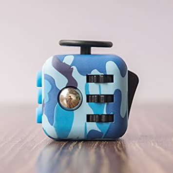 FIDGETARIAN Fidget Cube Azul Camuflaje (Azul Camuflaje)