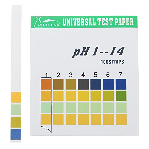 Universal PH Test Strips Full Range 1-14 Indicator Paper Tester 100 Strips Boxed w/Color Chart (Boxed Tester)