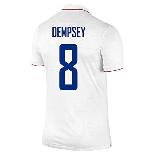にじみ出る若さ宅配便NIKE DEMPSEY #8 USA Home Jersey 2014/2015/サッカーユニフォーム アメリカ ホーム用 背番号8 デンプシー 2014-15