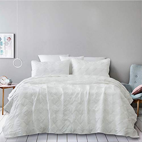 Natural Union Oversized Quilt Set Full/Queen 3 Piece Bedspread Coverlet Set with Shams Ultra Soft Coverlet Lightweight Hypoallergenic Microfiber Bedding Cover