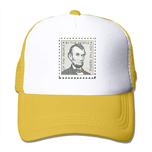 HiPiClothK Unisex Abraham Lincoln of by for The People Trucker Hats Yellow
