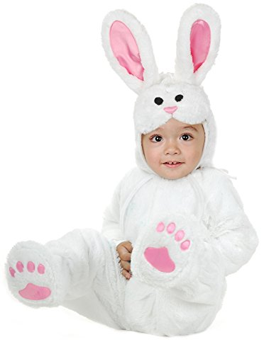 Charades Little Bunny Costume Baby Costume, -White, Infant -