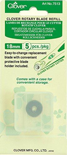 Clover Rotary 18mm Blade Refill, 5 (Clover Rotary Cutter)