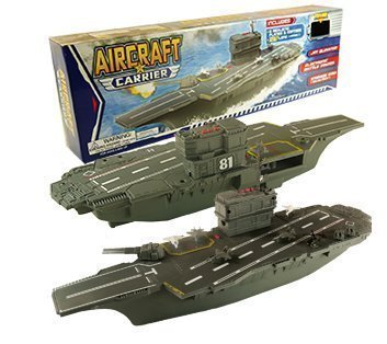 "21"" Aircraft Carrier With Sound 6 Planes Military Playset NEW by Polyfact"