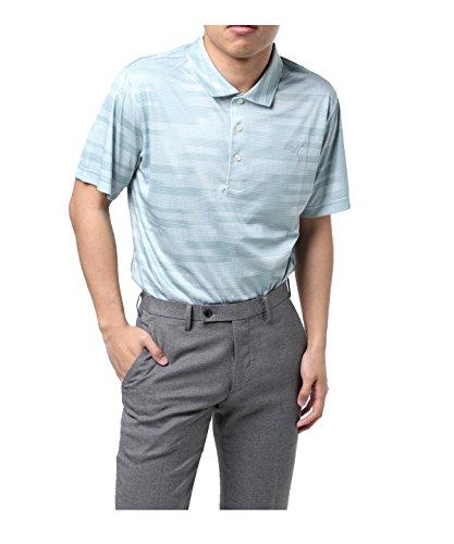 プーマ ゴルフウェア ポロシャツ 半袖 パウンスストライプ 576473 01グレー M