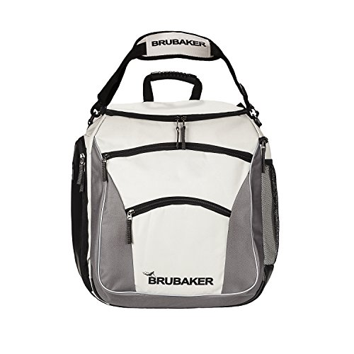 BRUBAKER Winter Sports Ski Boot Bag Professional Backpack Black Silver