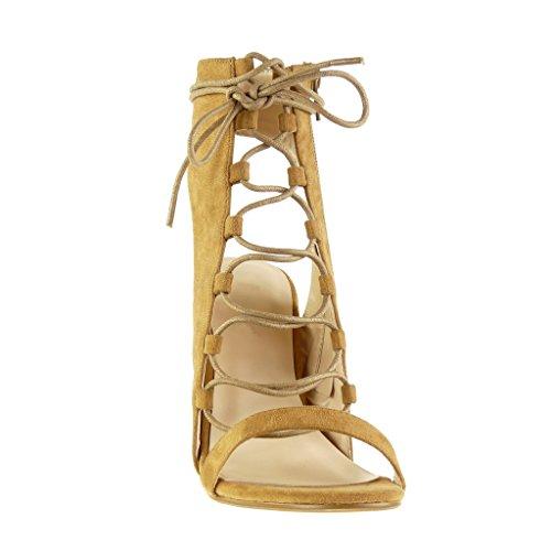 11 Ouverte Bottine Bride Multi Angkorly cm Chaussure Sandale Bloc Camel Sexy Lacets 5 Femme Haut Talon Mode zqzIOxwR