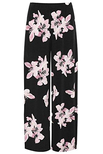 62 a con gamba stampa a Black larga Pink da floreale a Fashions larga Islander Pantaloni donna donne vita delle 44 palazzo IT PqHv8OSw
