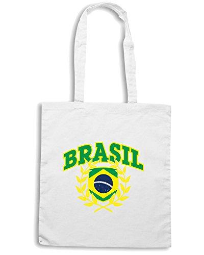 T-Shirtshock - Bolsa para la compra WC0040 BRAZIL BRSILE Blanco
