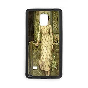 Samsung Galaxy Note 4 Cases Peasant Girl, Luxury Case for Samsung Galaxy Note 4 - [Black] Okaycosama
