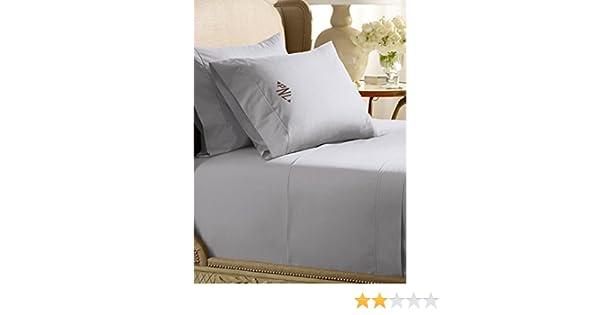Amazon.com: Ralph Lauren Home 464 Percale Pale Flannel Gray KING Flat Sheet: Home & Kitchen