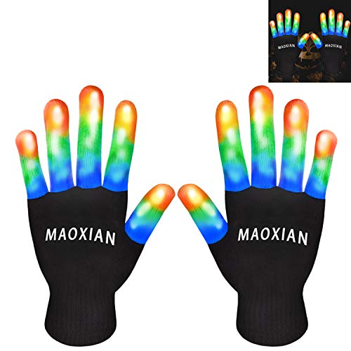 Led Toys For Raves (Flashing LED Gloves,Kid Camping Outdoor Games for 4 5 6 7 8 9 10 11 12 Year Old and Above can wear, Halloween Christmas Party Best Costume Gift,in The Dark)