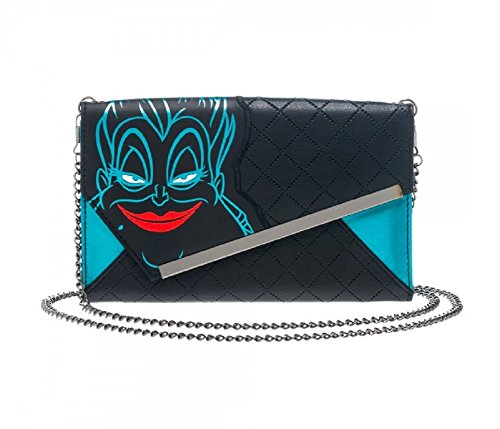 Disney The Little Mermaid Ursula Envelope Wallet with Chain (The Little Mermaid Ursula)