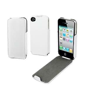 Cremieux CRSSL0025 - Funda con tapa y protector de pantalla para iPhone 5, color blanco