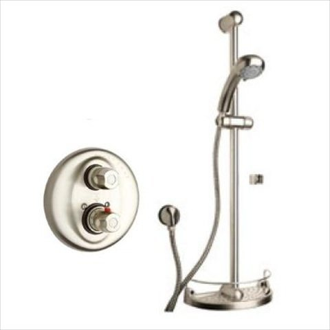 Latoscana Water - LaToscana WH-OPTION1PW Option 1 Water Harmony Shower System, Brushed Nickel Finish