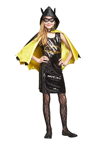 Chasing Fireflies Batgirl Sequin Dress Costume for Girls -