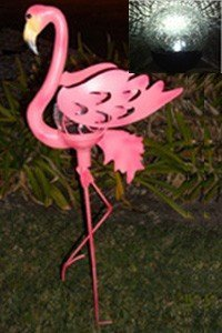 Outdoor Flamingo Garden Stake Solar Light by SW Closeout by SW Closeout