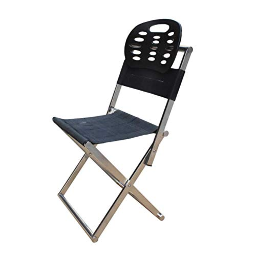 Portable Chair, Foldable Fishing Chair Stool Home Outdoor Free Turning Backboard Bench Welding Chair(36×27×65cm)