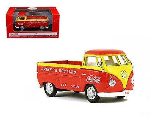Coca-Cola Volkswagen T1 Pickup Orange & Yellow Model Vehicle