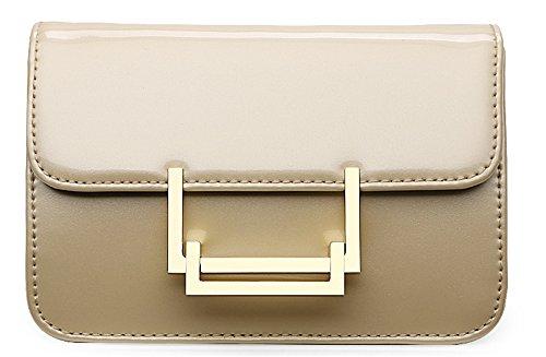 Bolsos de señora Xinmaoyuan Pu Charol Bolsos Bolso de Hombro simple cadena tipo almohada pequeña bolsa cuadrado,rojo Golden