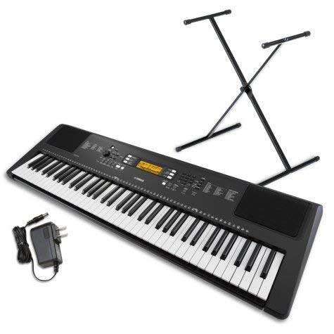 Yamaha PSR-EW300 SA 76-Key Portable Keyboard Bundle with Stand and Power Supply ()