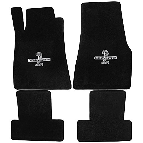 2011 to 2012 Ford Mustang Black Heavy Plush Mats With Shelby GT500 Logo supplier
