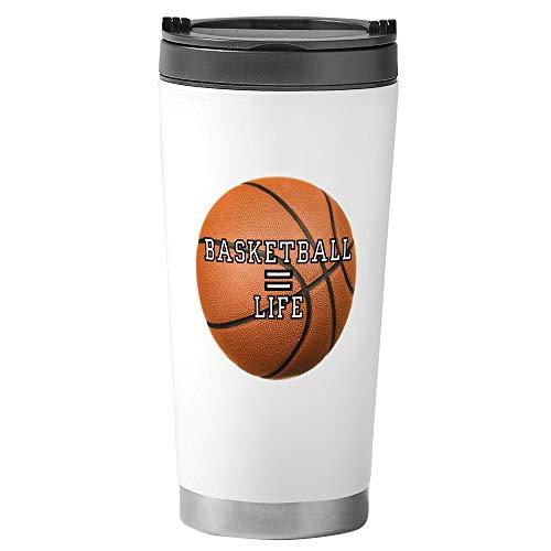 Stainless Steel Travel Drink Mug Basketball Equals Life